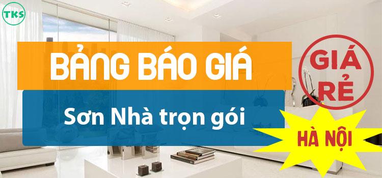 Báo giá sơn nhà trọn gói rẻ nhất tại Hà Nội