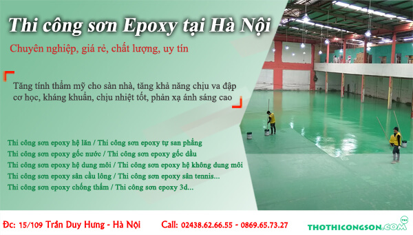 Thi công sơn Epoxy tại Hà Nội
